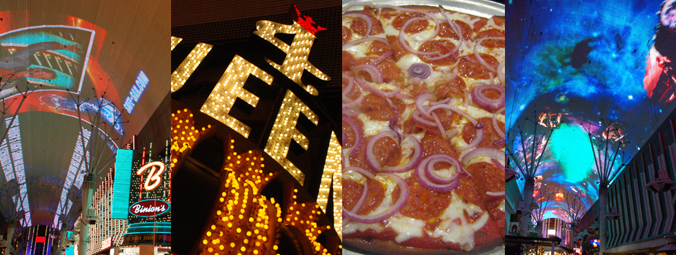 Gluten-free with Wendi e. - Fremont Street downtown light show
