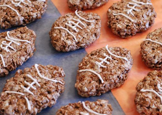 Gluten-free Football Crispy Treats