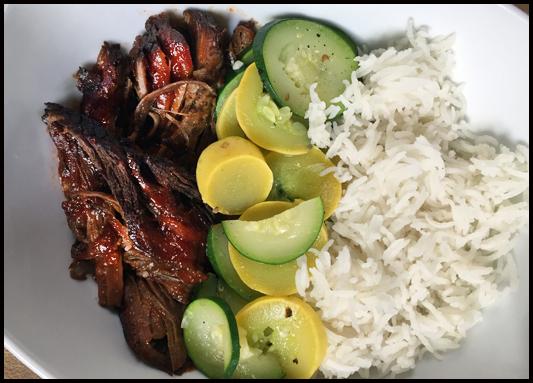 Beef brisket plated
